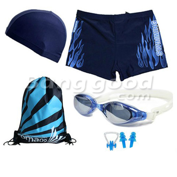 Swimming suit Swimming Goggles and Hat Swimming SET for Men