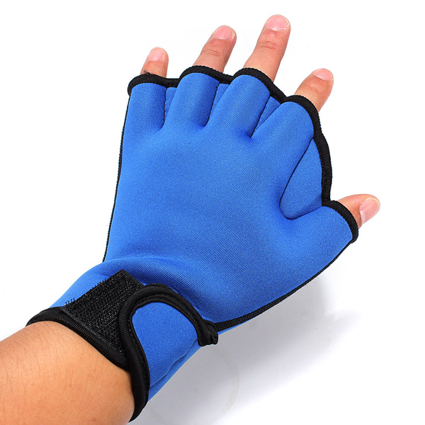 Fingerness Swimming Gloves Frog Webbed Gloves Fitness Training Gloves