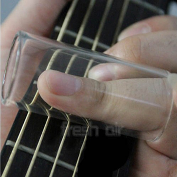 Electric Guitar Clear Plexiglass Finger Knuckle String Slide