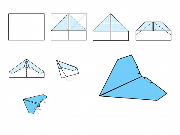 HM830 Easy RC Folding A4 Paper Airplane