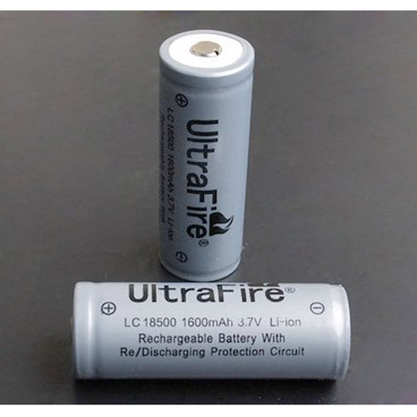 Ultrafire 3.7V 1600mAh 18500 Rechargeable Battery With Protected 1PCS