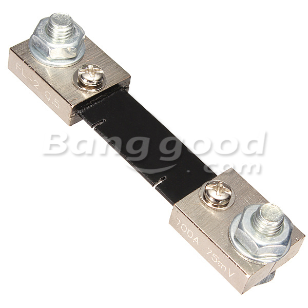 100A 75mV FL-2 DC Current Shunt Resistor For Amp Ampere Panel Meter