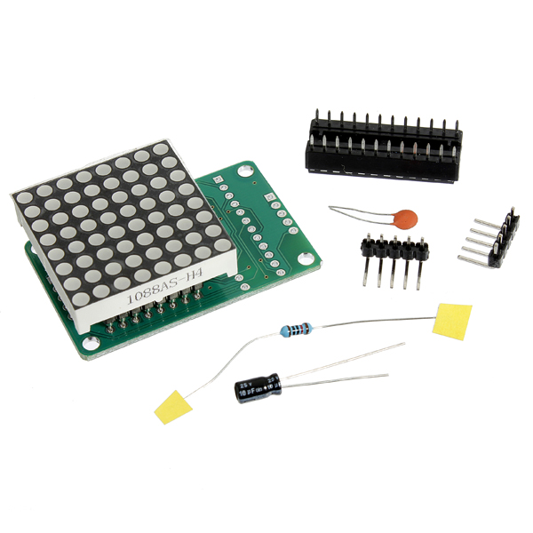 5Pcs MAX7219 Dot Matrix Module DIY Kit SCM Control Module For Arduino