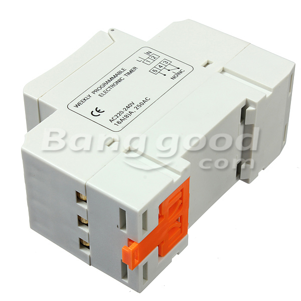 DANIU THC15A 220-240V 16A DIN Rail Digital Programmable Timer Switch
