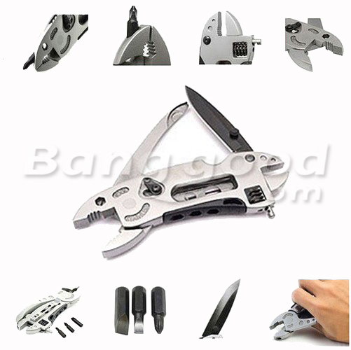 Piranha Multitool Adjustable Wrench Jaw+Screwdriver+Pliers+Knife Multitool Set
