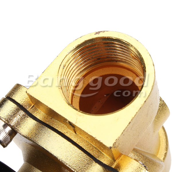 Brass 220V AC 1/2inch Electric Water Air Fuels Gas Solenoid Valve