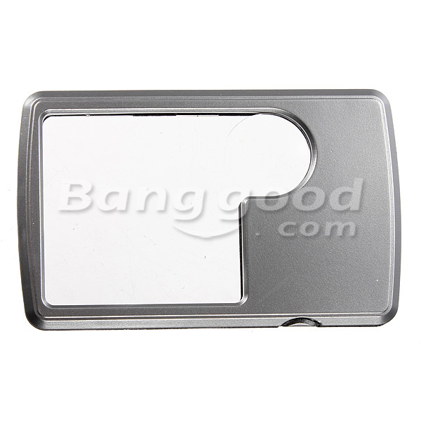 3X 6X LED Square Credit Card Magnifying Glass Loupe Reading Magnifier
