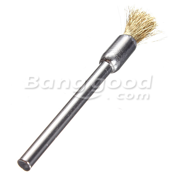 3mm Brass Wire Wheel Brush Cups Tool Shank for Dremel Drill Rust Weld