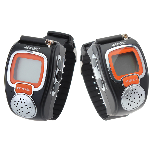 008 0.5W Two Way Radios Sport Watch Mini Walkie Talkie