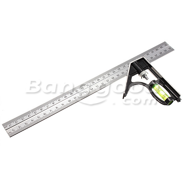 Adjustable 300mm Engineer Combination Try Square Set Right Angle Guide
