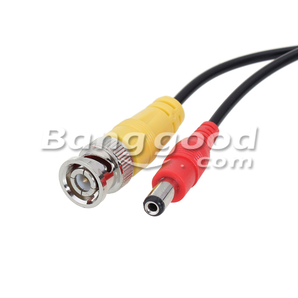 BNC Power Extension Wire Cable for CCTV Security Camera System