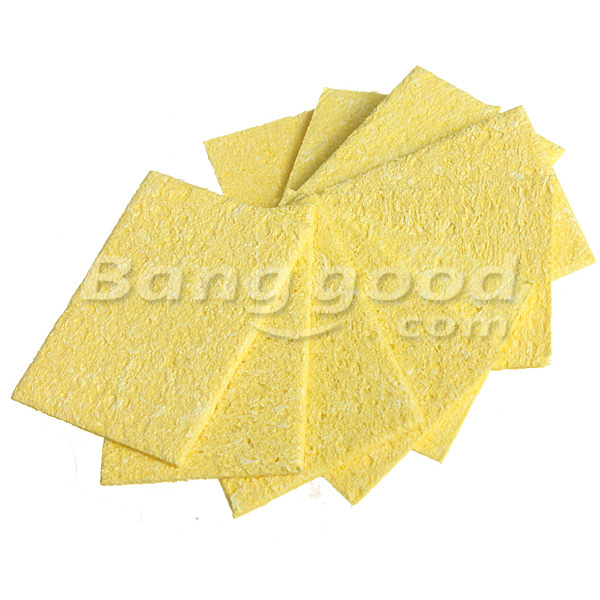 DANIU 10Pcs Welding Soldering Iron Tip Replacement Sponge Cleaning Pads