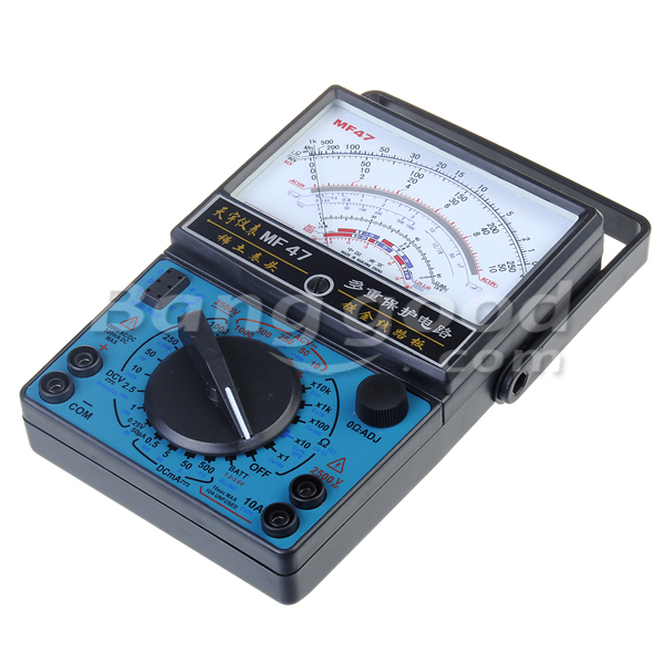 MF-47 Analog Multi Meters Volt Meter Ammeter Ohm Meter Battery Tester