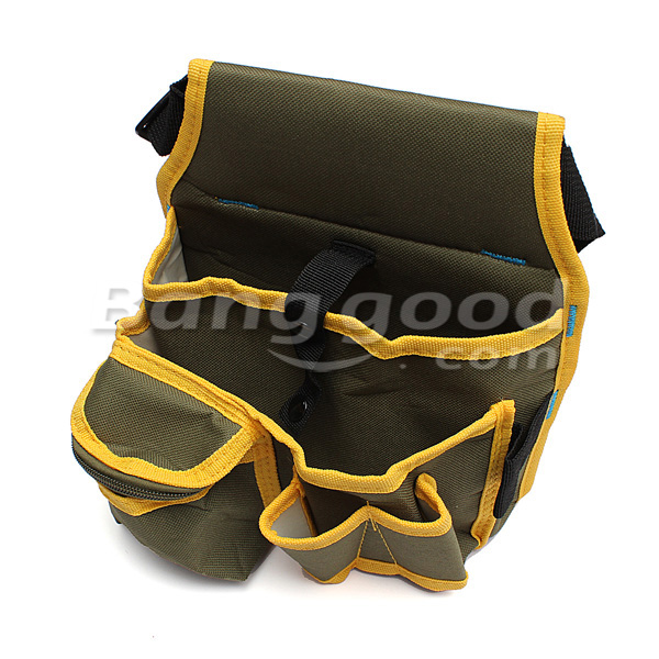Hardware Mechanic Canvas Tool Bag Utility Pocket Pouch Bag With Belt