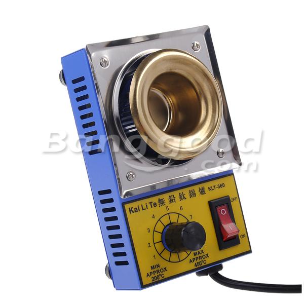 KLT-360 38mm 220V 100W Solder Pot Titanium Alloy Melting Soldering Pot
