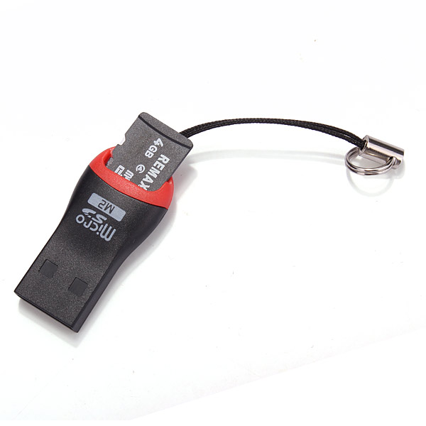 USB 2.0 Micro Sd SDHC T - Flash TF M2 Memory Card Reader