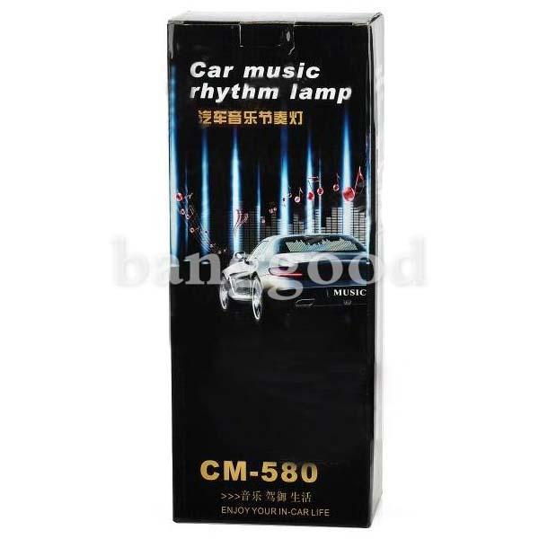 Rock Guitar Style Car LED Light Music Sticker Sound Activated Rhythm