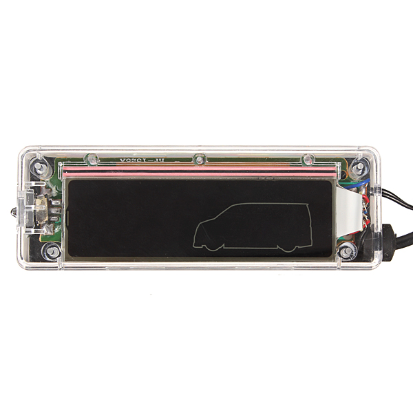 digital lcd transparent car thermometer backlight