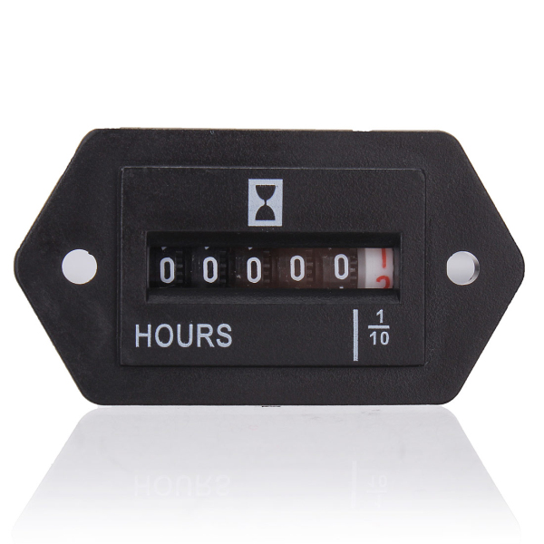 6-80V DC Hour Meter Low Power Consumption Bezel Firm Durable