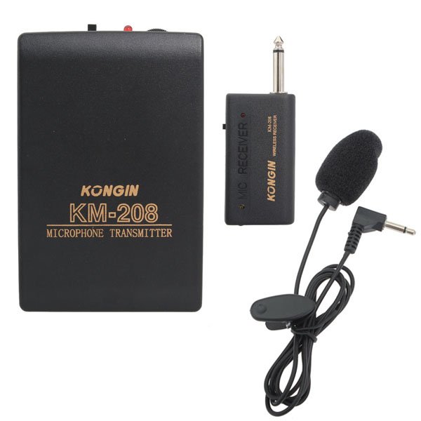 Wireless Clip-on MIC Mini Microphone Transmitter Headset