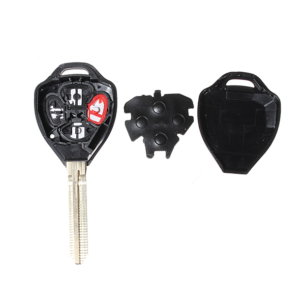 4 Button Remote Key Shell for Toyota Carola Fe 2008-2012 Uncut Blade