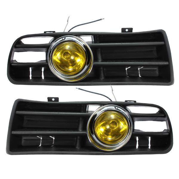 Yellow Front Fog LED Light Lamp Lower Grille for 98-04 VW Golf MK4
