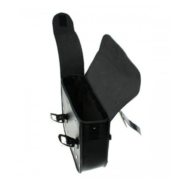 Pair Universal Motorcycle Saddlebags Double Buckle Strap Tool Bag