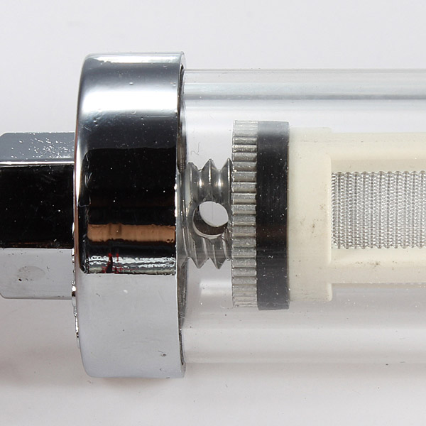 8MM Chrome Finish Petrol Diesel In Line Fuel Filter