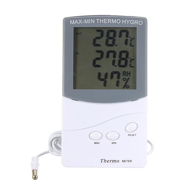 LCD Digital Thermometer Humidity Meter Hygrometer Indoor Outdoor