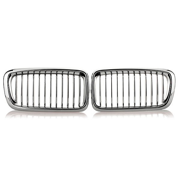 Chrome Car Kidney Grills Grilles for BMW E38 740 750 98 99 2000 2001
