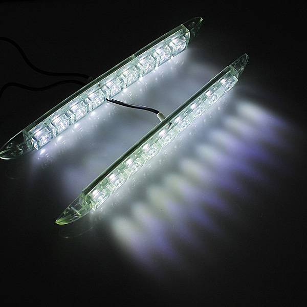 12V 9 LED Car DRL Super Bright Driving Daytime Running Light Headlamp