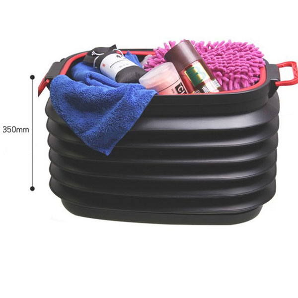 Bunning 37L Folded Retractable Trash Bin Bucket Washing Storage