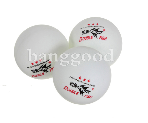 Double Fish 3-Stars 40mm Ping Pong Ball for Table Tennis Sports Games