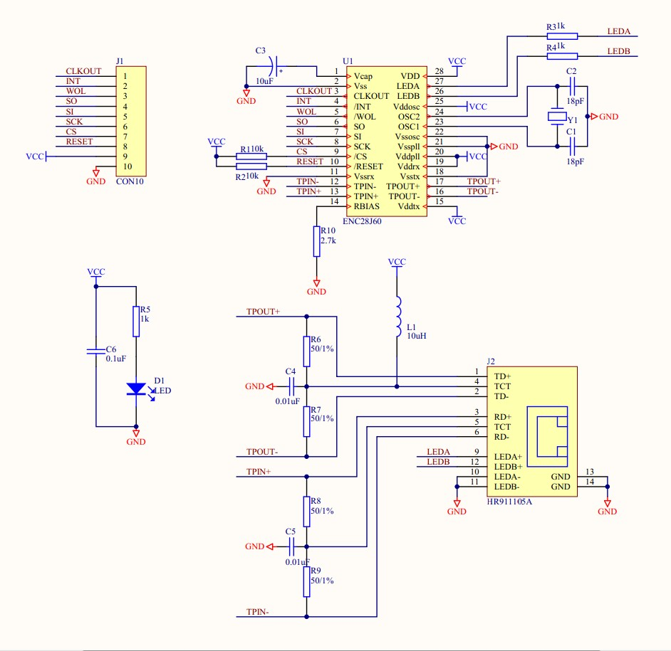 Enc28j60 Ethernet Lan Network Module Schematic For Arduino 51 Avr Atmel Minimus Based Timer And Solid State Relay Control Uv Lpc