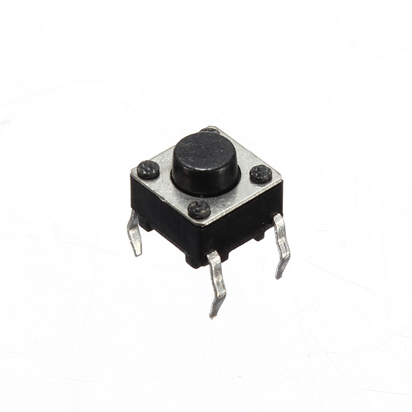 Geekcreit® 100pcs Mini Micro Momentary Tactile Touch Switch Push Button DIP P4 Normally Open
