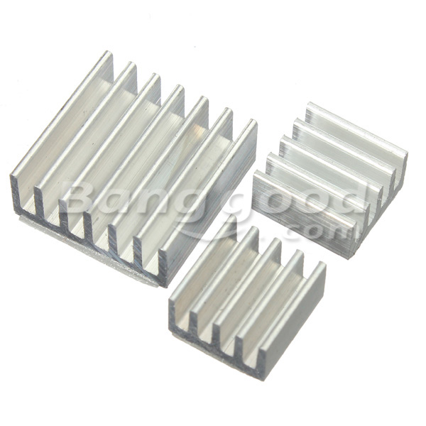 30pcs Adhesive Aluminum Heat Sink Cooler Kit For Cooling Raspberry Pi
