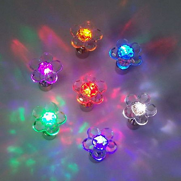 1pc Halloween Plum Blossom Led Light Ear Stud Dance Party Accessories