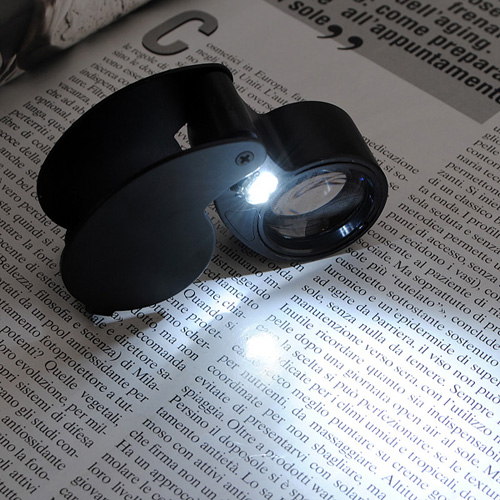 40X LED Eye Jeweller Magnifying Glass Magnifier Loupe