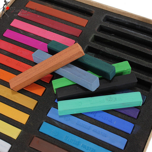24 Colors Non-toxic Temporary Hair Dyes Color Chalk Square Hair Chalks