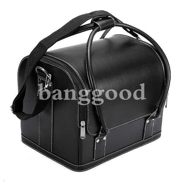 Professional Leather Beauty Comestic Makeup Box Vanity Case Bags