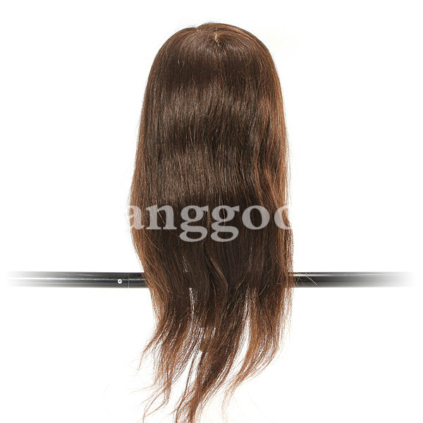 80 Percent Human Hair Hairdressing Training Head Practice Model With Clamp Real Long Hair 18 inch