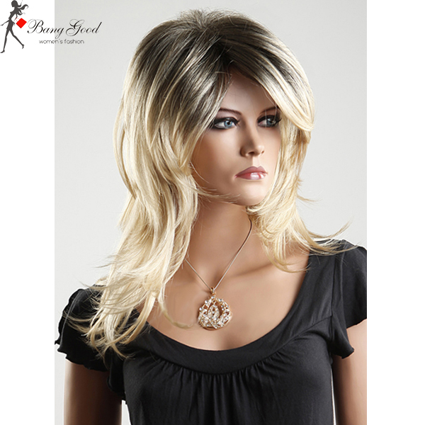 Fashion Long Blonde Cosplay Party Hair Lady Wig