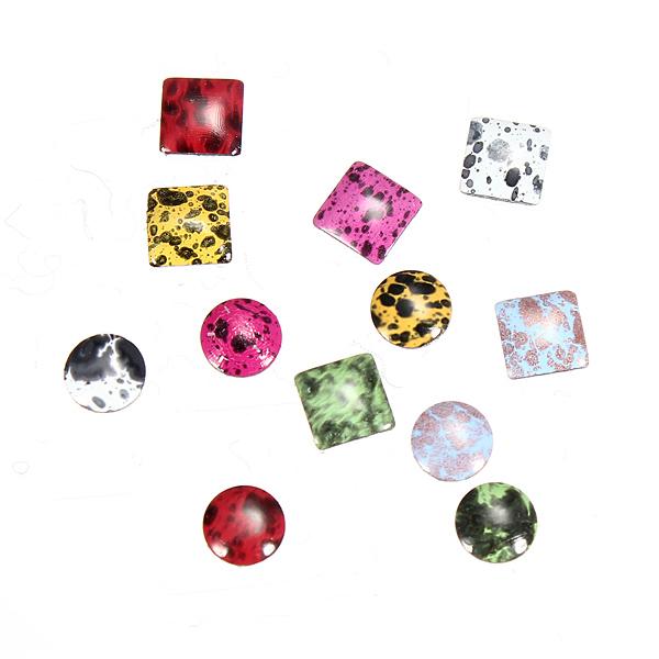 Square Round Shape Acrylic Nail Art Decoration Wheel