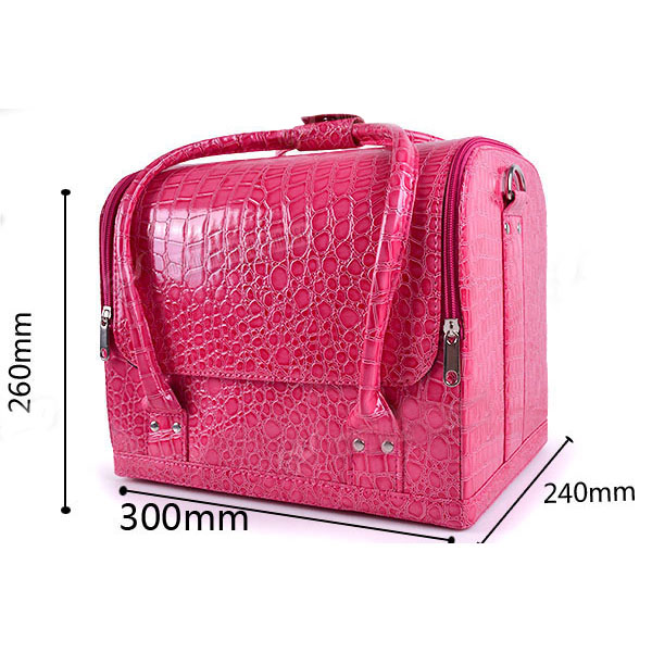 Croc Four Level Makeup Vanity Case Nail Art Cosmetic Storage Box