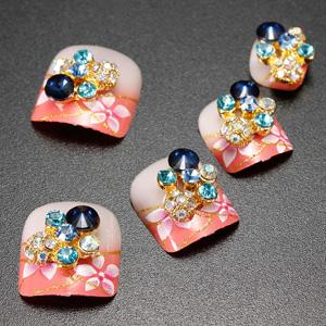 3D Glitter Acrylic Crystals Rhinestones Metallic Nail Art Stickers