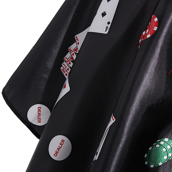 Black Poker Sleeve Barber Salon Hair Cutting Cape Hairdressing Tools