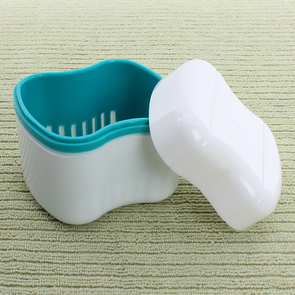 Dental Denture Box Container Orthodontic Dental Blue Case Mouth Tray