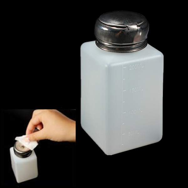 200ml Empty Nail Polish Remover Liquid Press Pump Dispenser Bottle