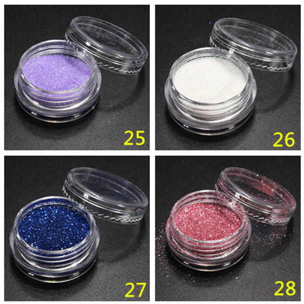 Shiny Glitter Powder Nail Art Design Tips Dust Decorations DIY