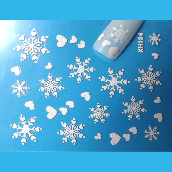 Christmas Snowflakes Snowmen 3D Nail Art Sticker Decal Decorations